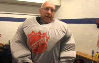 A man with special needs finds his passion through ice hockey.