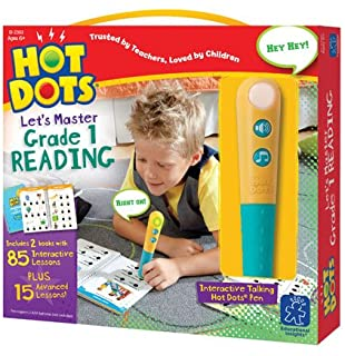 Educational Insights Hot Dots Let's Master 1st Grade Reading with Talking Pen