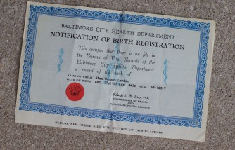 Listing A Father's Name on A Birth Certificate