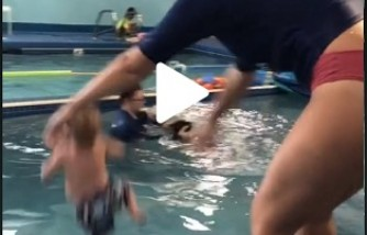 Viral Video: Baby Tossed into the Swimming Pool by the Instructor